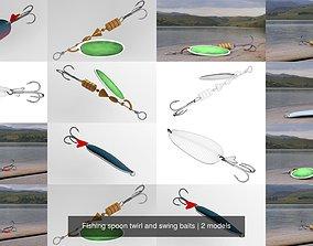 3D Fishing spoon twirl and swing baits