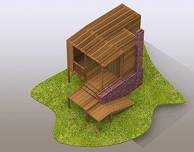 Backyard Hideout 3D model