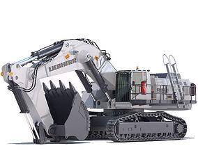 3D Mining Excavator Liebherr R9150 heavy
