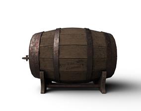 3D model PBR Wine Barrel