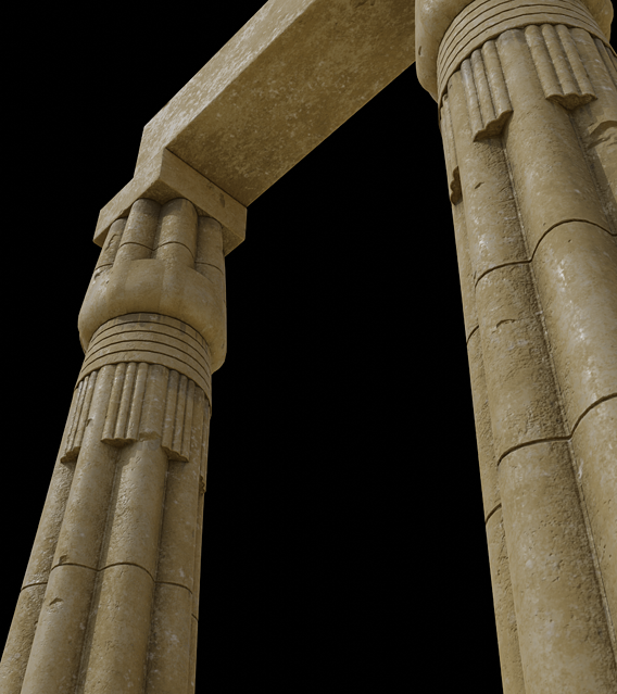 Papyrus buds columns
