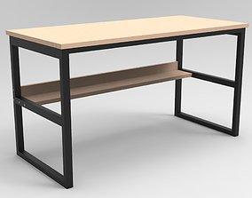 highpoly Computer Table 3D model low-poly