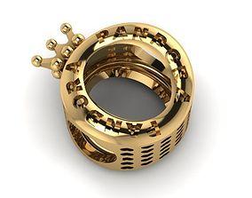 3D printable model queen crown charm ball