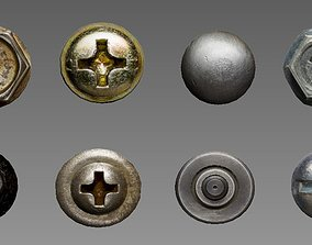 3D asset Nails and bolts