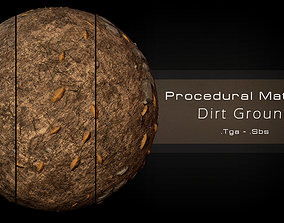 Procedural Dirt Ground Material - 3 Variations 3D model