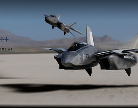 3D model F-14 stealth concept