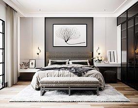 sleep 3D model Master bedroom modern