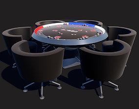Poker Table SciFi 3D asset VR / AR ready