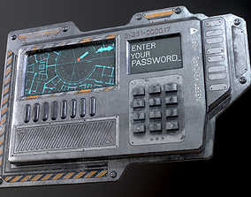 3D model Sci-Fi Door electric lock keypad or Card