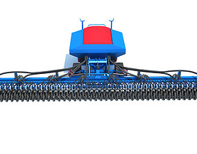 3D Trailed Seed Drill
