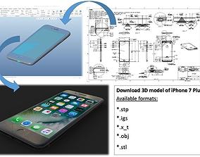 iPhone 7 Plus - original dimensions 3D