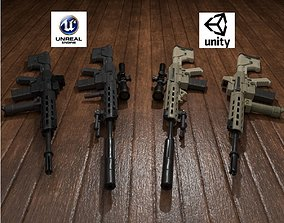 3D model Semi-Automatic Sniper Package
