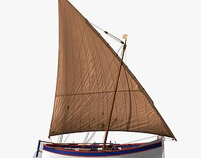 3D model Shells Fishing Sailing Boat