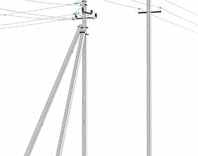 3D model Electric poles
