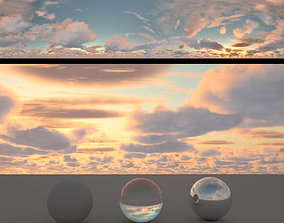 3D Skydome HDR - Cloudy Sunset - 1