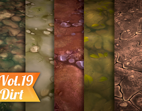 Stylized Dirt Vol 19 - Hand Painted Texture 3D model