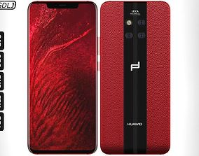 Huawei Mate 20 RS Red 3D rs