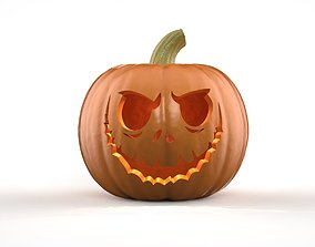 Jack Skellington Jack O Lantern Pumpkin 3D printable model