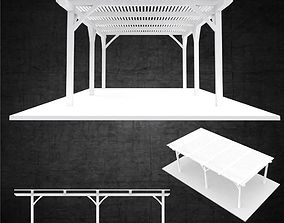 Free standing trellis structure architectural 3D model 1