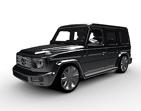 Mercedes Benz G-Class with interiar 3D model