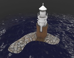 3D model Light House Malmo Vagbrytarbank
