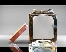 Jar with a Lid 3D asset