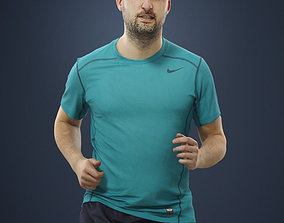 Petr Sportswear Casual Man in Shorts Running 3D model
