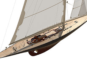 3D model J-Class Yacht ENDEAVOUR JK4