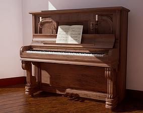 3D model VR / AR ready Piano 4