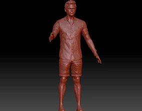 figure realistic man 3D model