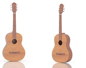 3D asset 3D Miniature Model of Classical Guitar