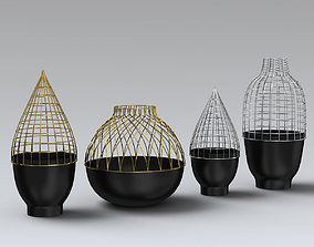Grid Vase Collection for Gaia Gino 3D model