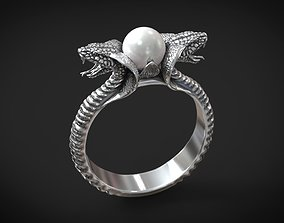 Ring cobra snakes pearl 3D printable model