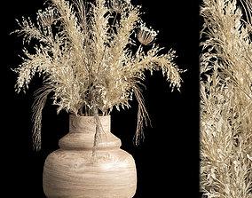 Dried flowers 01 3D model