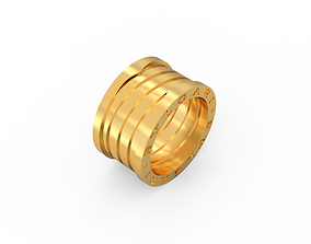 3D print model Ring Zero Without Stones Ring size 16-5mm