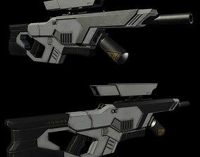 Sci Fi Rifle 3D model realtime