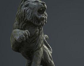 3D asset low-poly Lion Statue