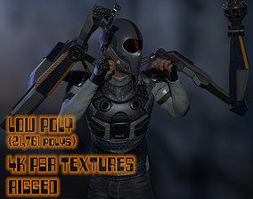 3D asset animated Sci-fi Male Suit