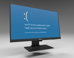 PC Monitor desktop 3D