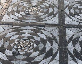3D model Radial ornamental marble tiles Material