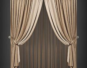VR / AR ready Curtain 3D model 272