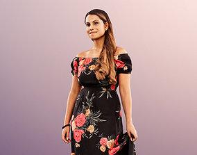 Elli 11956 - Coloured Woman Walking In Dress 3D asset