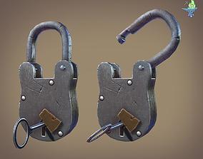 3D model Medieval padlock