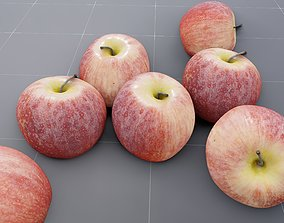 3D model Red Yellow Apple