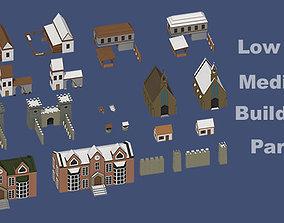3D model Low Poly Medieval Buildings Part 3