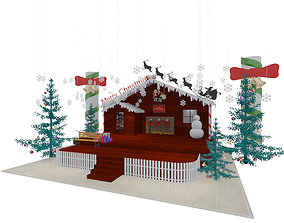 3D Christmas Stage Exhibition Booth