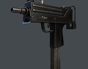 3D asset Gun UZI