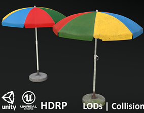 Garden Umbrella V1 - Clean and Dirty 3D model