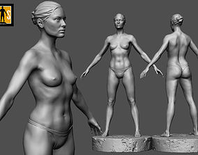 3D printable model natural female anatomy study