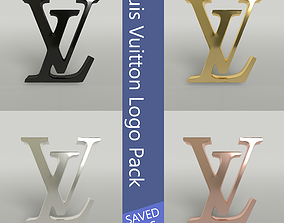 3D asset Louis Vuitton Logo Pack